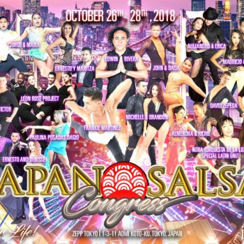 Japan Salsa Congress 2018 Flyer