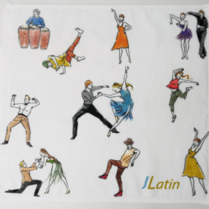 J Latin Mini Towel
